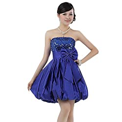 A-Line Short Satin Bridesmaid Dress
