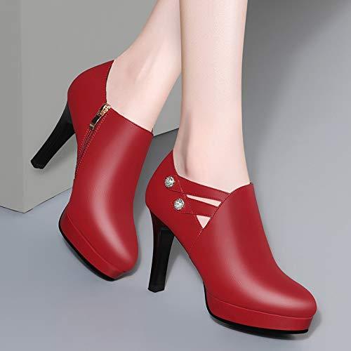 PINGXIANNV Hochhackige Damen Sind Fein Mit Tiefem Mund Wies Prinzessin Schuhe Mode Schuhe Prinzessin 47b074