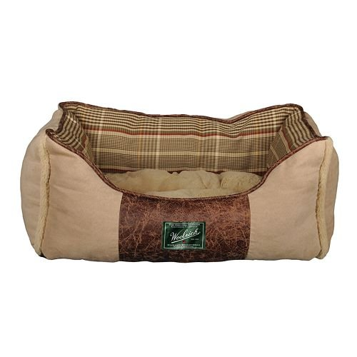 Woolrich 12141-03 Woodlake Collection Small Rectangular Cuddler Style Pet Bed, My Pet Supplies