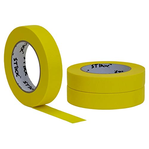 STIKK Yellow Painters Tape 14 Easy Removal Trim Edge Finishing Decorative Marking Masking Tape (.94 in 24MM) ()