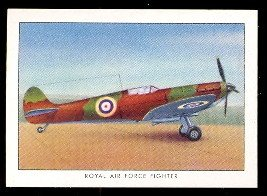 1935 Wings Cigarettes Series B (Non-Sports) Card# 39 RAF fighter