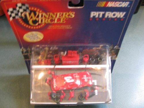 (Dale Earnhardt Sr #3 Red Coca Cola 1998 Monte Carlo 1/64 Scale Diecast Pitroad Pit Row Scene Series 1st Head to Head Race With Dale Jr Motegi Japan Winners Circle )