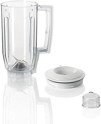 Bosch MUZ5MX1 Batidora de vaso - Accesorio para robot de cocina de la serie MUM5, Color blanco y transparente: Amazon.es: Hogar