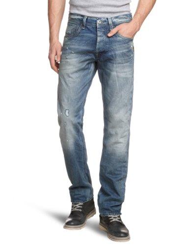 G-STAR RAW Herren Attacc Straight Jeans Blau (Med Aged Destry 4648-3142)