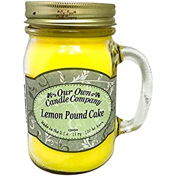 Our Own Candle Company Lemon Pound Cake Scented 13 Ounce Mason Jar Candle
