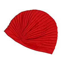 SODIAL(R) TURBAN HAT CHEMO HEADWRAP INDIAN HIJAB HEADCOVER FANCYDRESS ITEM HAIR LOSS CHEMO