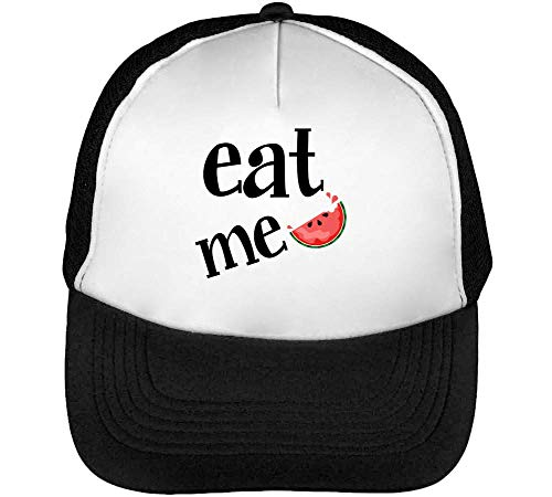 Negro Beisbol Blanco Fashioned Snapback Watermelon Gorras Eat Hombre UvYqYH