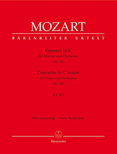 Piano Concerto No. 25 in C Major, K. 503 (Solo Part with Reduction)      ()