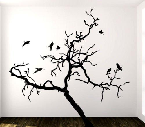 Adesivo Murale Wall Art Albero 3 Misure 180x180 Cm Decorazione