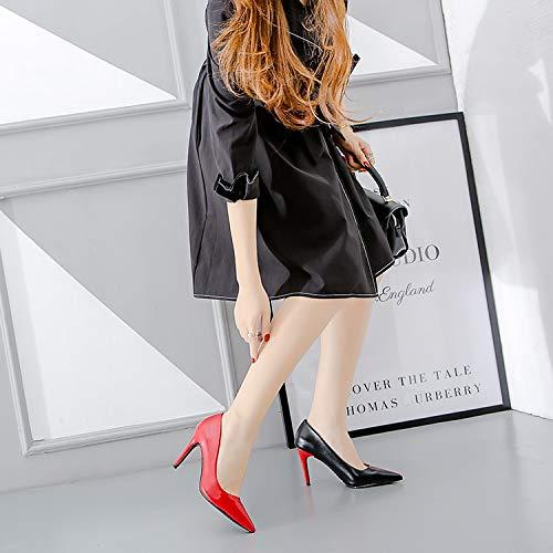 Schuhe Damen Weiß Urtjsdg 5 Kontrast Sommer Heels Rot Pumps Frauen Stiletto Schwarz nbsp;high Escarpins Farbe Grün Sexy Spitz 6 wzRzxAX6