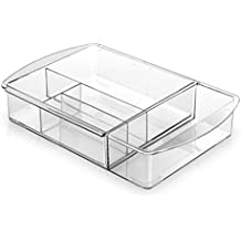 BINO Multi-Purpose Plastic Drawer Organizer, 7 Section Expandable
