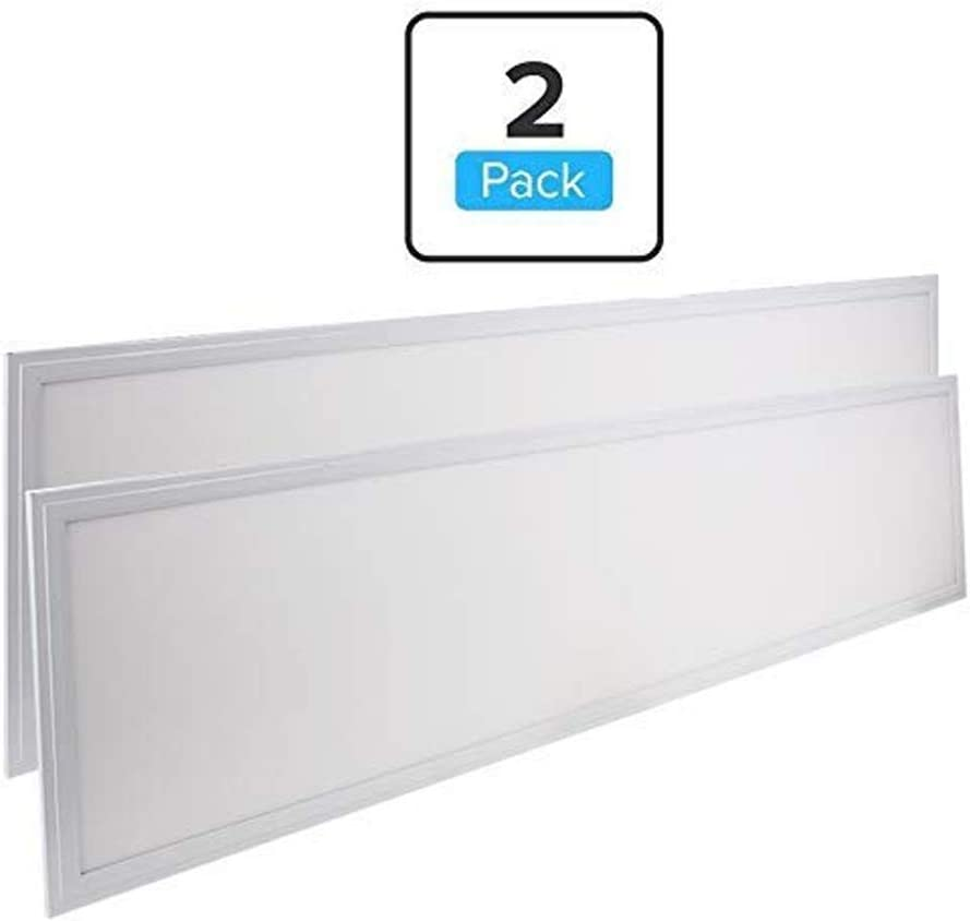 LEDMyplace 1x4 ft LED Panel Edge-Lit 40W 5000K 4000 Lumens 120/° Beam Angle Replaces 150W 0-10V Dimmable ETL 4-Pack 100-277Vac DLC Listed 5 Years Warranty 12x48 Inch LED Drop Ceiling Panel