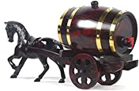 KEKEYANG Decantador Decantador de Whisky Decantador de Vino Barriles de Roble para Almacenamiento o Vino Envejecido y espíritus Barriles Fiestas