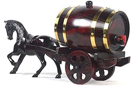 KEKEYANG Decantador Decantador de Whisky Decantador de Vino Barriles de Roble para Almacenamiento o Vino Envejecido y espíritus Barriles Fiestas, Bodas y más Decantador de Whisky (Size : 5l)