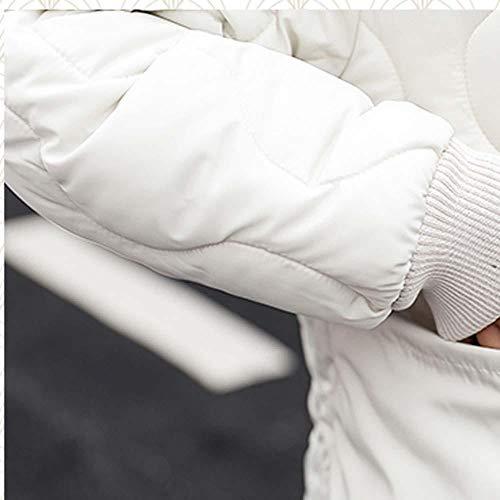 Da Forti Taglie Giacca Addensare Lunghe cappotti Donna Jacket Maniche Invernali Ragazza Lungo Cappuccio Down Bianco Autunno Trench mambain Eleganti Cappotto Casual Con Moda q6ZwE