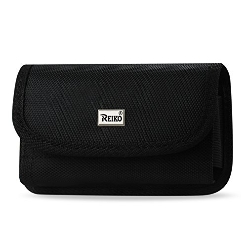 Reiko Plus Size Rugged Pouch for with Card Holder for Samsung Galaxy S4 - Retail Packaging - Black