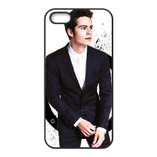 Dylan O`Brien coque iPhone 5 5S cellulaire cas coque de téléphone cas téléphone cellulaire noir couvercle EOKXLLNCD23382