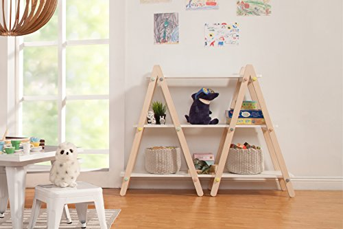 Babyletto Dottie Bookcase, White Washed Natural