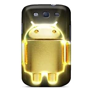 First-class Case Cover For Galaxy S3 Dual Protection Cover Android Gold