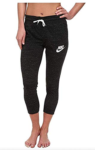 Womens Vintage Fleece Pants - Nike Gym Vintage Women's Capris Sweatpants 813875 010 (l)