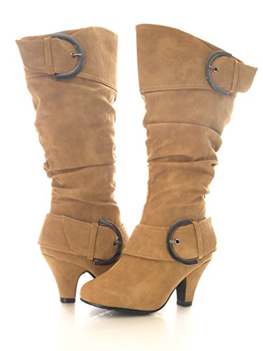 Damen Winter Stiefel Camel # 026