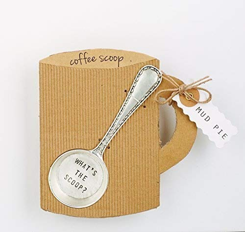 Mud Pie ''What's The Scoop'' Coffee Scoop, Silver by Mud Pie