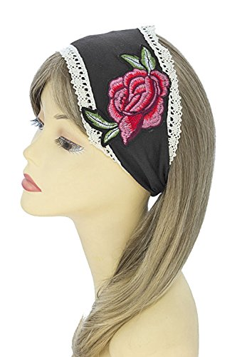 Crochet Heart Pin (TRENDY FASHION JEWELRY FLORAL ROSE PATCH CROCHET EDGE HEADBAND BY FASHION DESTINATION)