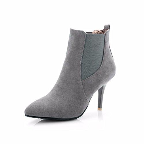El otoño y el invierno y frote con finos cachemires señaló botas botas código Gray