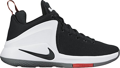 Nike Mens Lebron Zoom Witness Basketball Shoes Black/White/University Red 852439-003 Size 11