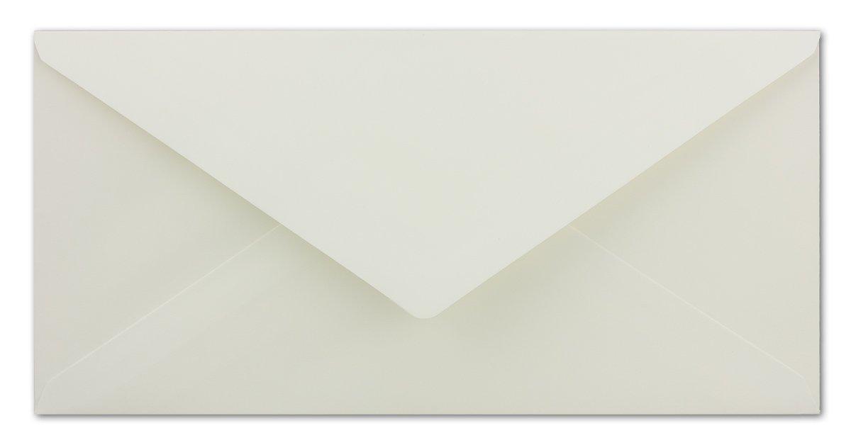 ideal f/ür Weihnachtskarten Gru/ßkarten /& Einladungen 200 DIN Lang Briefumschl/äge champagner-farben 11 x 22 cm 80 g//m/² cremefarbenes Seidenfutter Nassklebung
