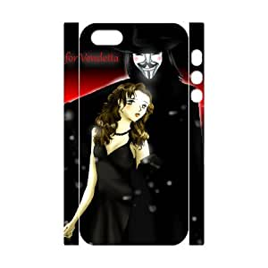 C-EUR Cell phone Protection Cover 3D Case V for Vendetta For Iphone 5,5S