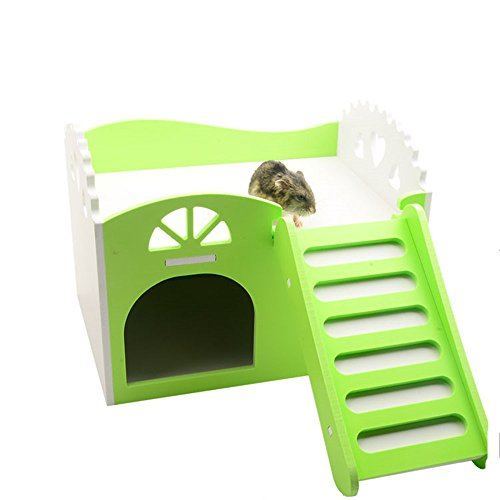 RunHigh Small Animal Wooden House, Exercise Natural Funny...