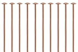 50 Pieces 14Kt Rose Gold Filled Head Pins 24 Gauge 1 inch