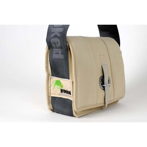 Messenger Bag MINI PROVOKED (E4022-o) aus Segeltuch, cream, 26x21cm