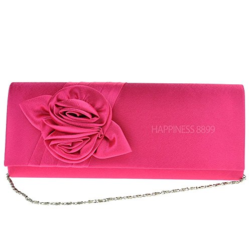 Purse Satin Party Handbag Shoulder Pattern Wocharm Pink Womens Wedding Bags Bag Evening Ladies Hot Bouquet Prom Clutch Girly Rose aqt8q6