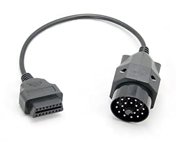 apparence élégante plus grand choix de rétro OBD OBD2 connecteur de Diagnostic Adaptateur à 16 broches pour BMW 20  broches (la gauche de 16 pins sur le droit de 20 pins)