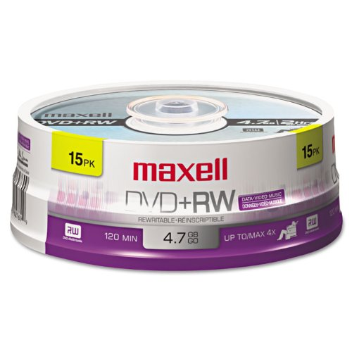 MAX634046 - Maxell 4x DVD+RW Media by Maxell