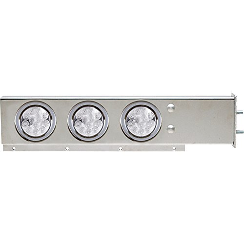 - TRUX Accessories Flat Top Mud Flap Hanger Light Bars with Clear LEDs - Pair, Model# TU-9210LC