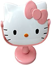 [Generic] Hello Kitty Cute Cartoon Rotation Dressing Table Bathroom Mirror Adult & Children Rotation Cosmetic Mirror FOR Makeup Pink