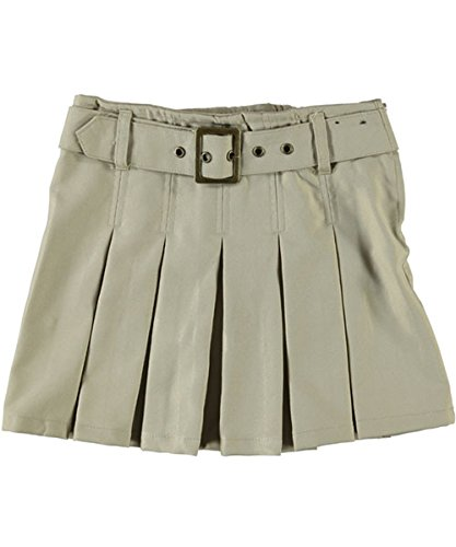 French Toast Big Girls' Scooter with Grommeted Belt - khaki, 12 X9059-G