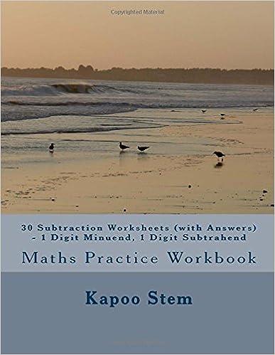 Télécharger le livre de google mac30 Subtraction Worksheets (with Answers) - 1 Digit Minuend, 1 Digit Subtrahend: Maths Practice Workbook (30 Days Maths Subtraction Answer Key Series) (Volume 1) by Kapoo Stem 151539624X en français PDF iBook PDB