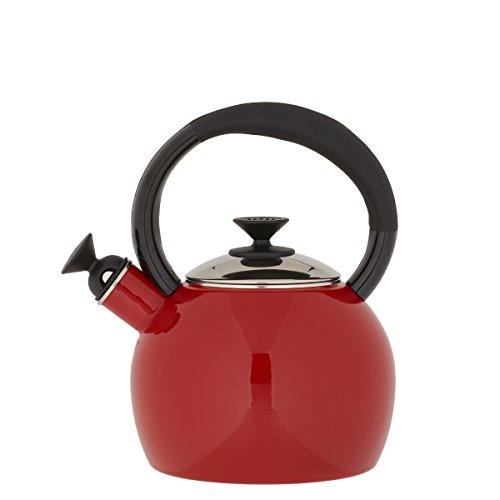 Copco 2503-1040 Camden Enamel-on-Steel Tea Kettle, 1.5-Quart, Red
