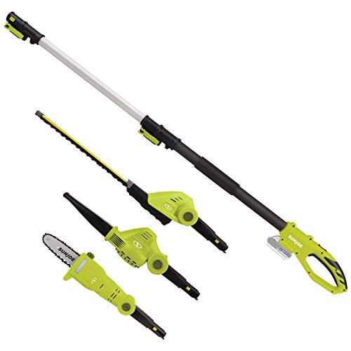 Sun Joe GTS4001C Garden Tool System, (Hedge Trimmer, Pole Saw, Leaf Blower)