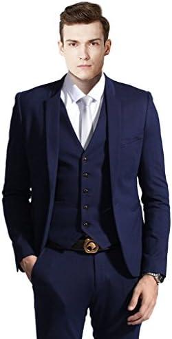 MYS Men de Custom Made Slim traje de solapa pantalones chaleco ...