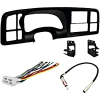 Double DIN Dash Kit - Wiring Harness - Radio Antenna Adapter for 1999 - 2002 GM Full-Size Trucks/SUVs
