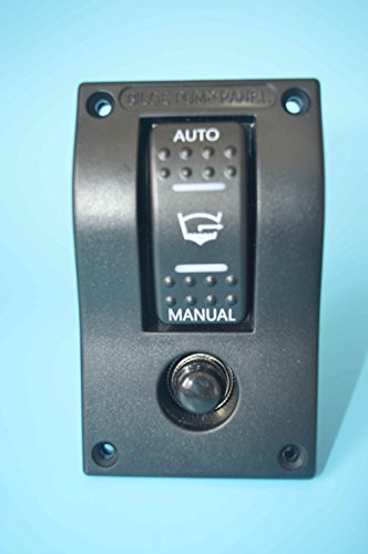 Amarine-made PN-AB1-4 12v Deluxe LED Rocker Bilge Pump Switch Panel & Circuit Breaker - Auto/Off/Man PN-AB1-4 (Off Pump Switch Bilge)