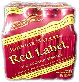 Pack 12 Botellita Whisky Johnnie Walker Red Label 50ml Miniature