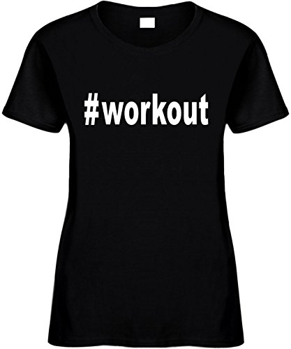 Signature Depot Women's Size 2X Funny T-Shirt (#Workout (Hashtag Tee Shirt) Workout) Ladies
