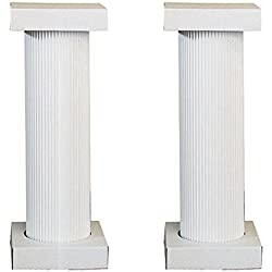 Shindigz 4' Cardboard White Fluted Pedestal, Set of 2