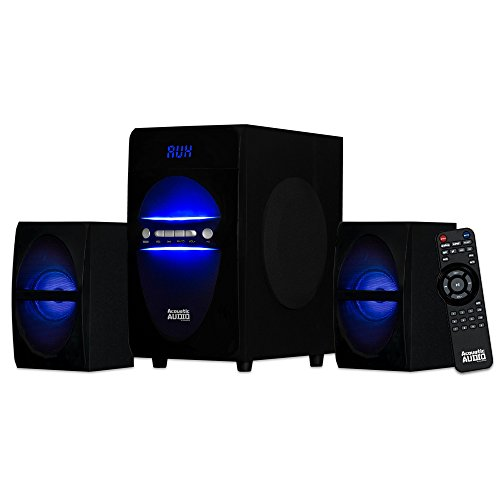 Acoustic Audio LED Bluetooth 2.1-Channel Home Theater Stereo System Black (AA2106) (Led Light Home Theater)